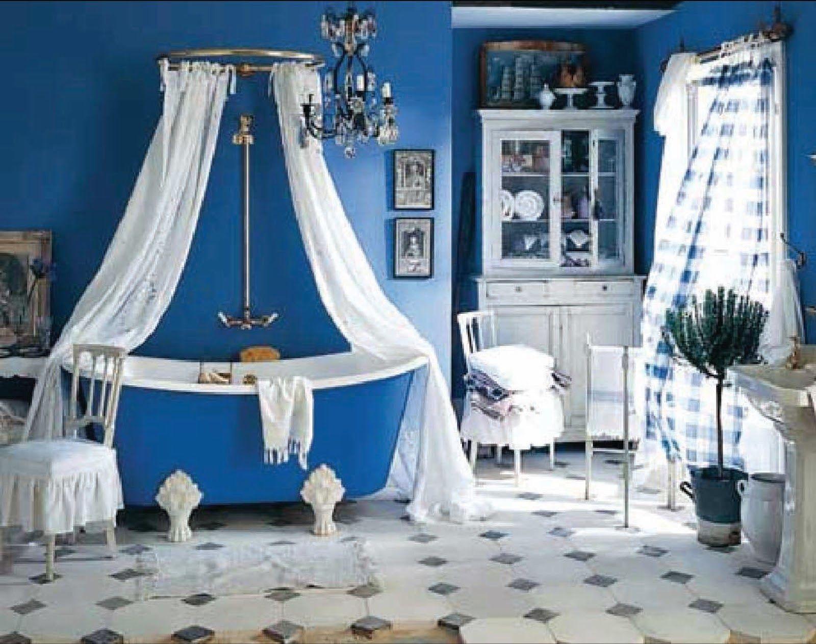 37 rustic bathroom decorating ideas clawfoot tubsbathtubsblue - Bathroom Decorating Ideas With Clawfoot Tub