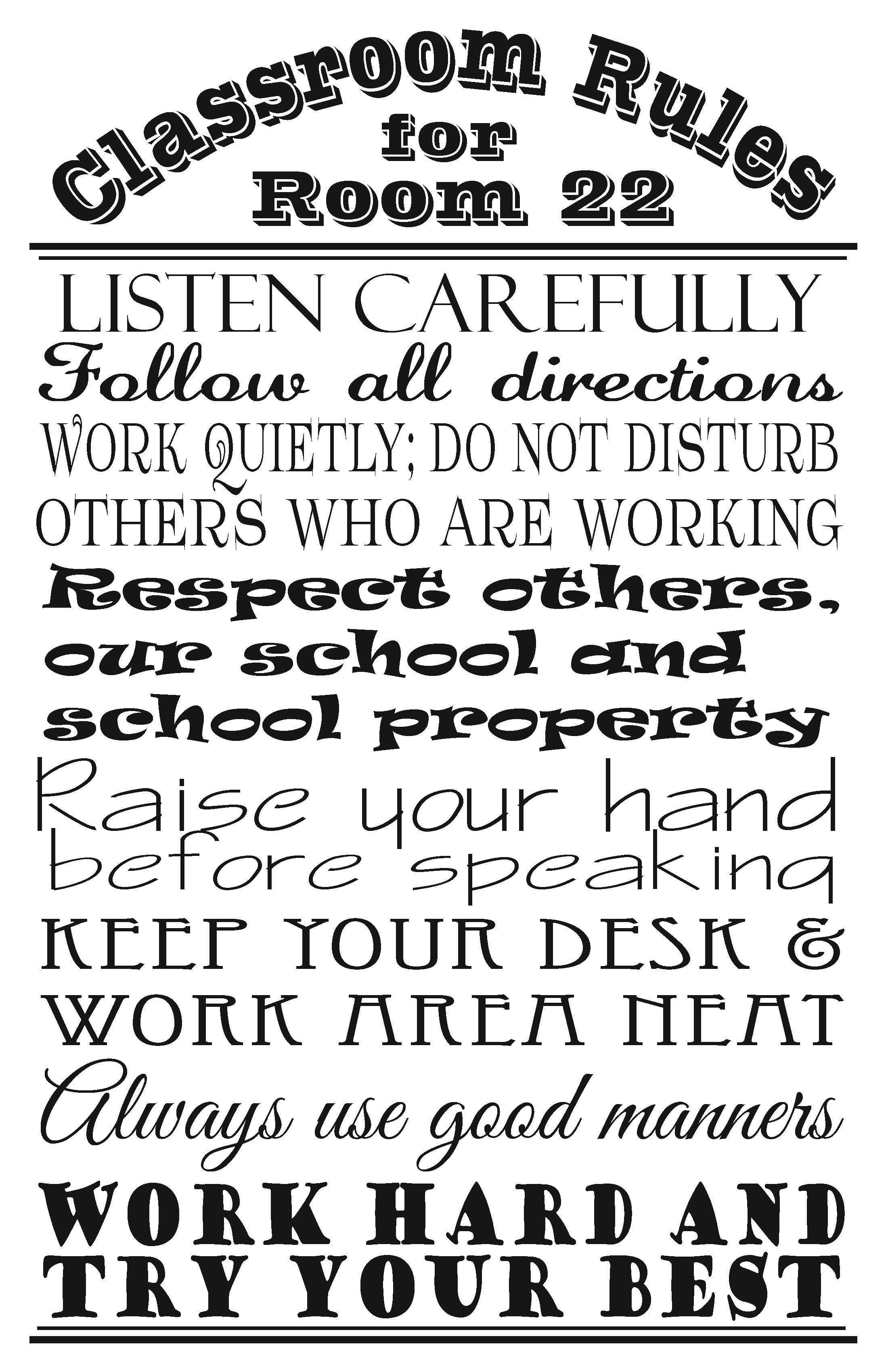 Classroom Rules I Made For Jerry S Classroom With Images