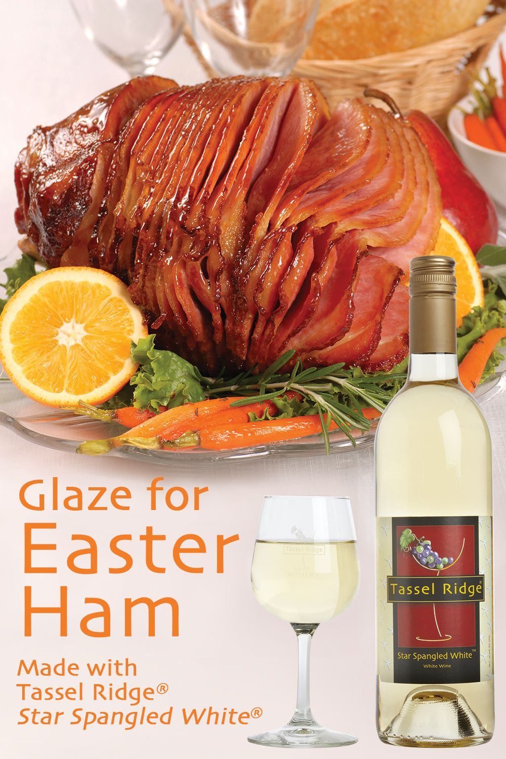 Glaze For Easter Ham Made With Star Spangled White Powered By Ultimaterecipe Pineapple Ham Pineapple Glaze Food Pairings