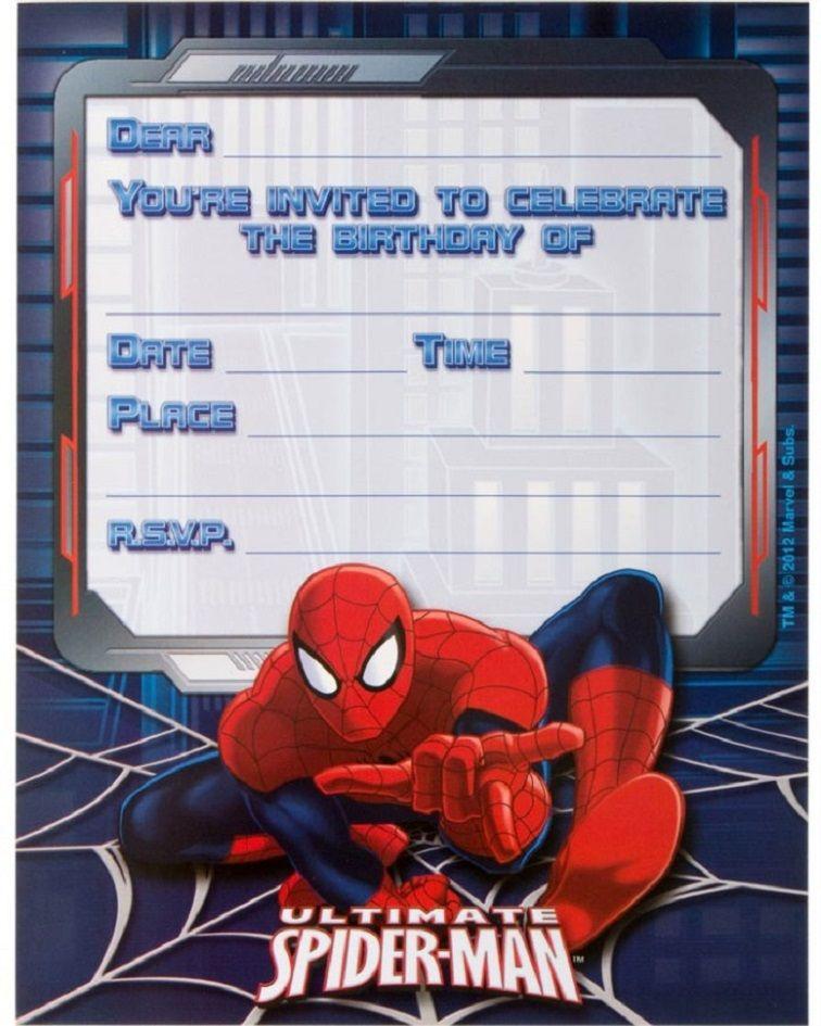 Spiderman Birthday Invitations Templates Free Spiderman Invitation Spiderman Birthday Invitations Spiderman Birthday