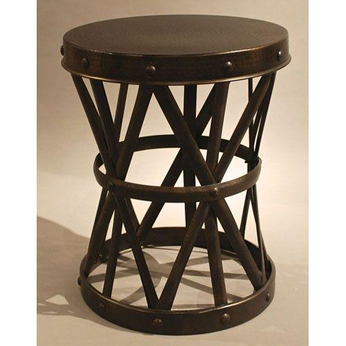 Bronze Garden Seat Accent Table