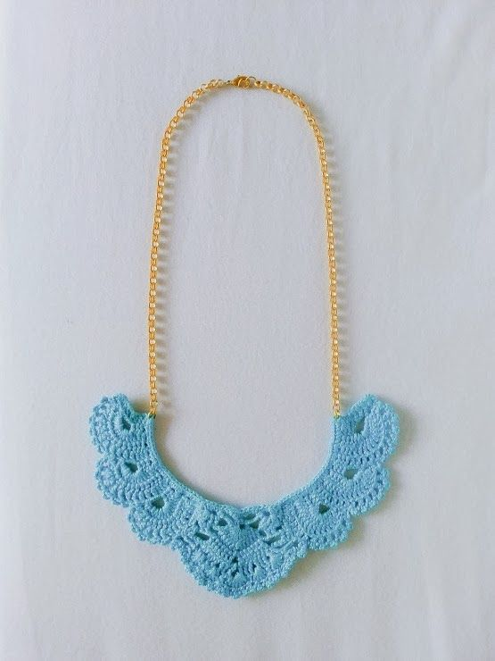 vestida de domingo shop: collares ganchillo | bisuteria | Pinterest ...