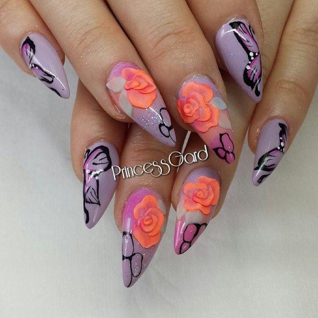 23 Cute Floral Nail Art Designs | Floral nail art, Nail