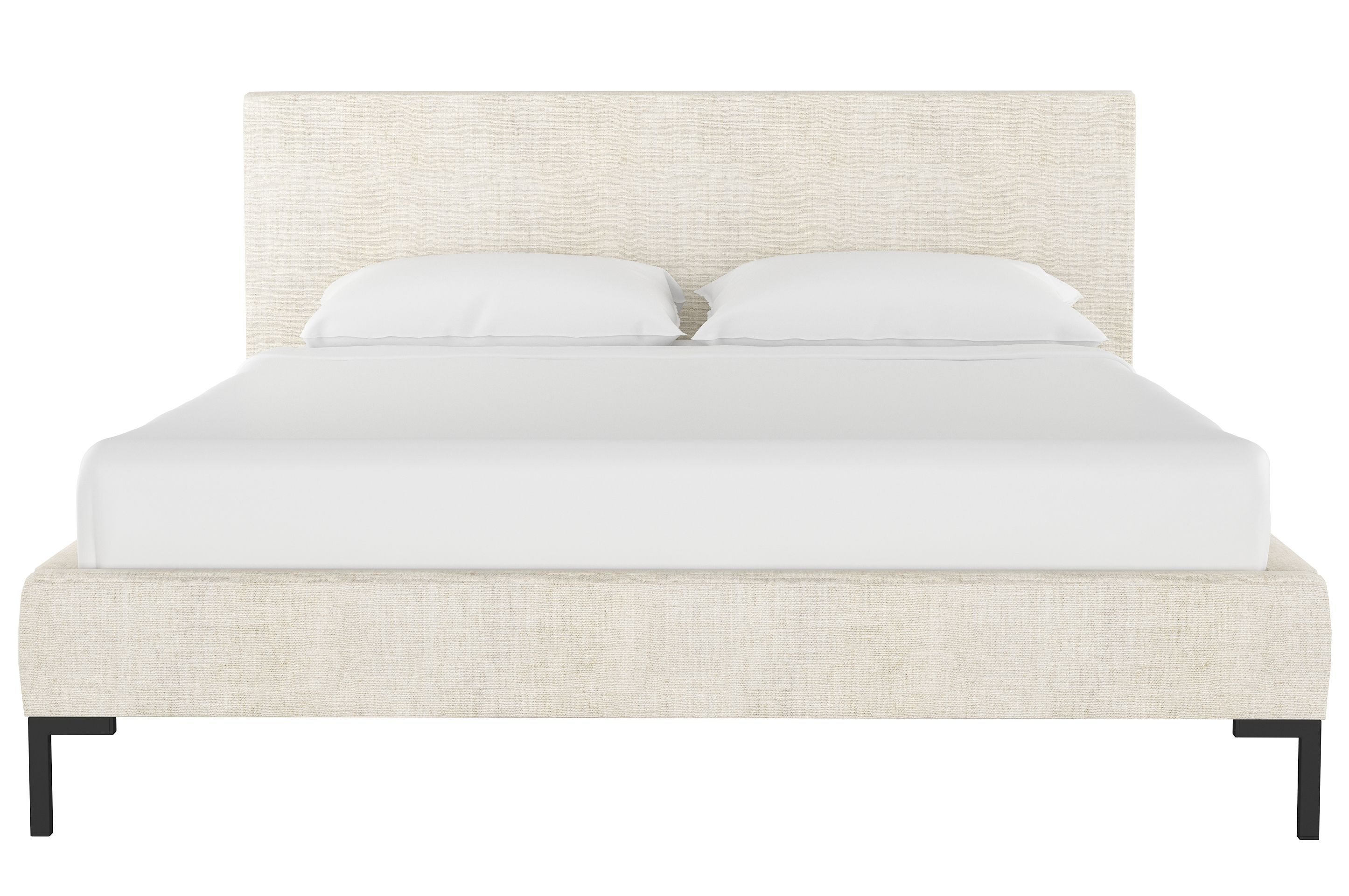 Deva Linen Platform Bed Talc Bedroom Vintage Bed Linen Design