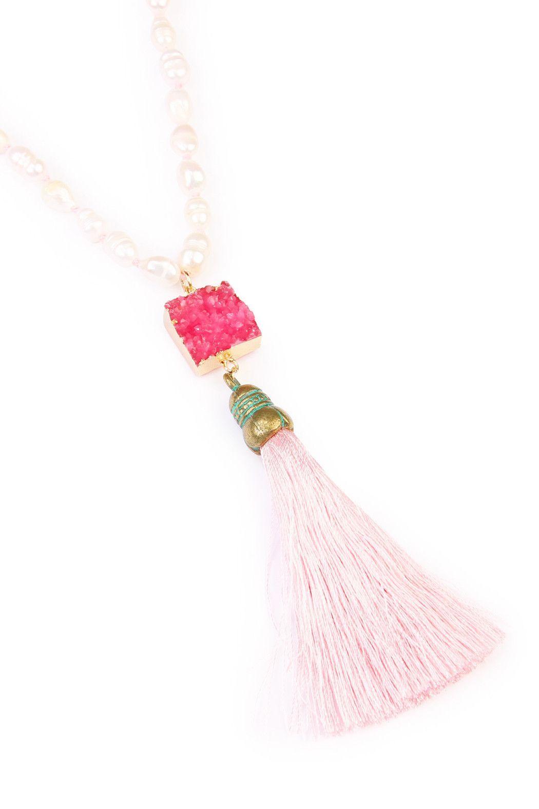 Long Line Tassel Necklace