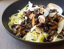 Spaghetti Squash with Mushrooms and Olives
