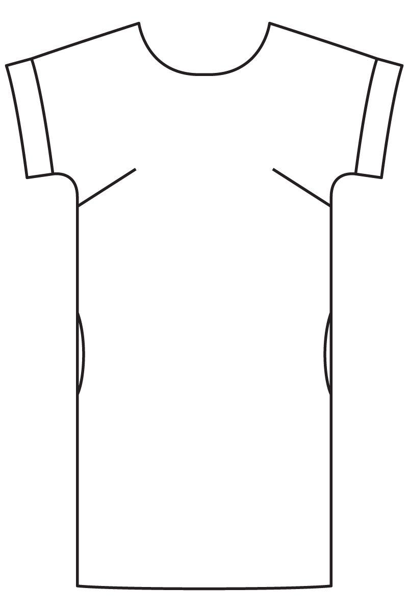 727fd69eceb Платье с цельнокроеными рукавами - выкройка № 115 из журнала 4 2016 Burda –  выкройки платьев на Burdastyle.ru