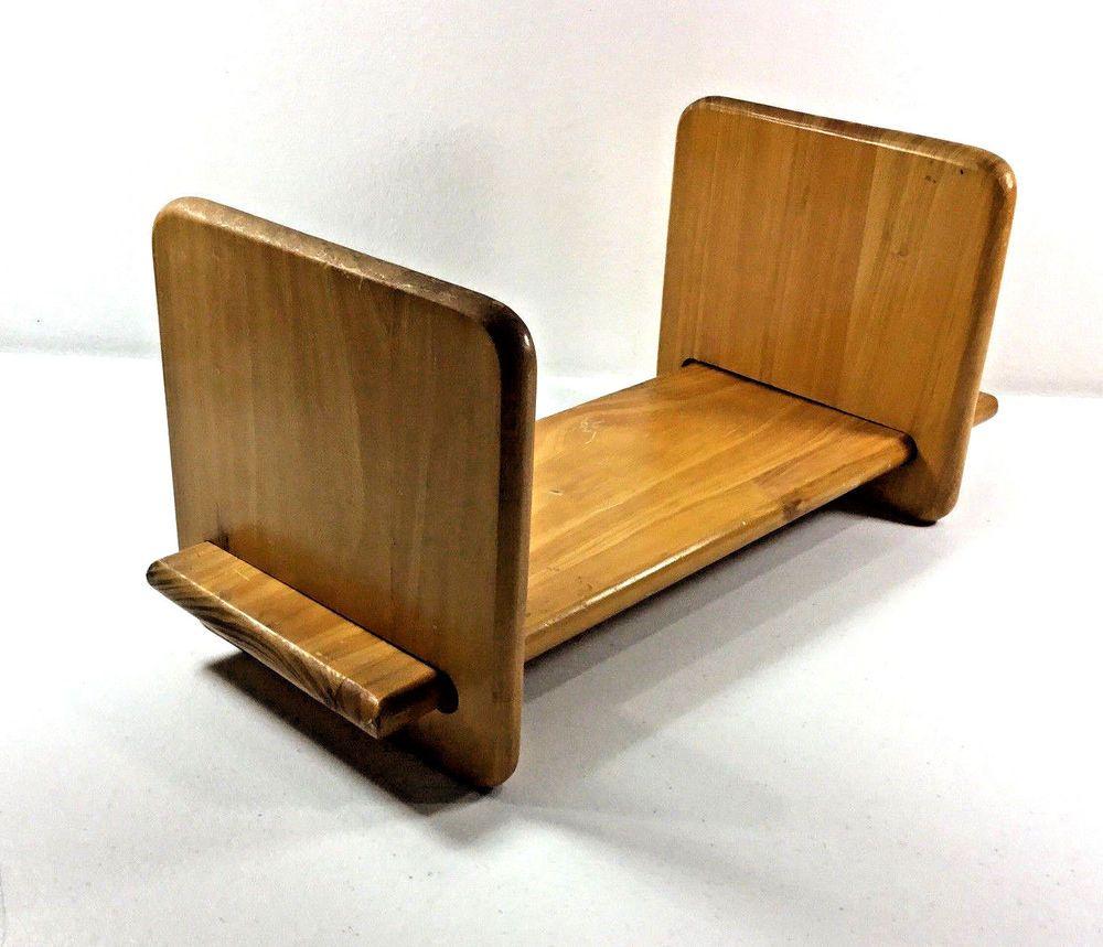 Wooden Oak Table Top Book Shelf Rack Adjustable Sliding Book Ends Oak Table Top Oak Table Bookshelves
