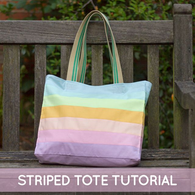 Striped Tote Tutorial from The Village Haberdashery