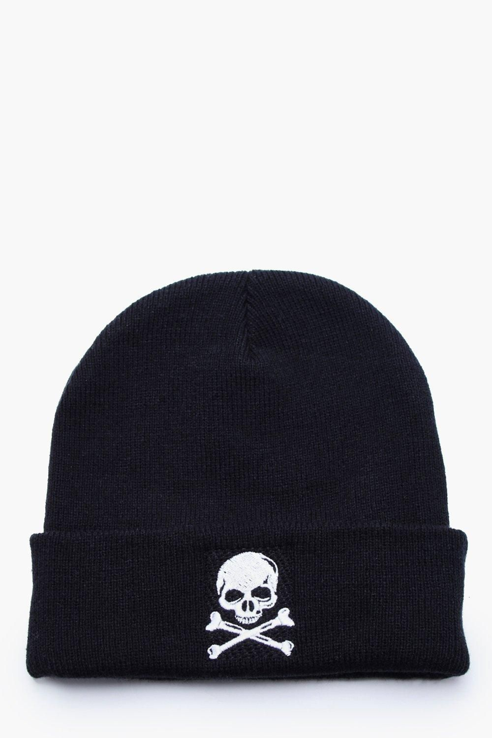 ede1c02eb5b58a Halloween Skull Embroidery Beanie in 2019 | Accessories | Halloween ...