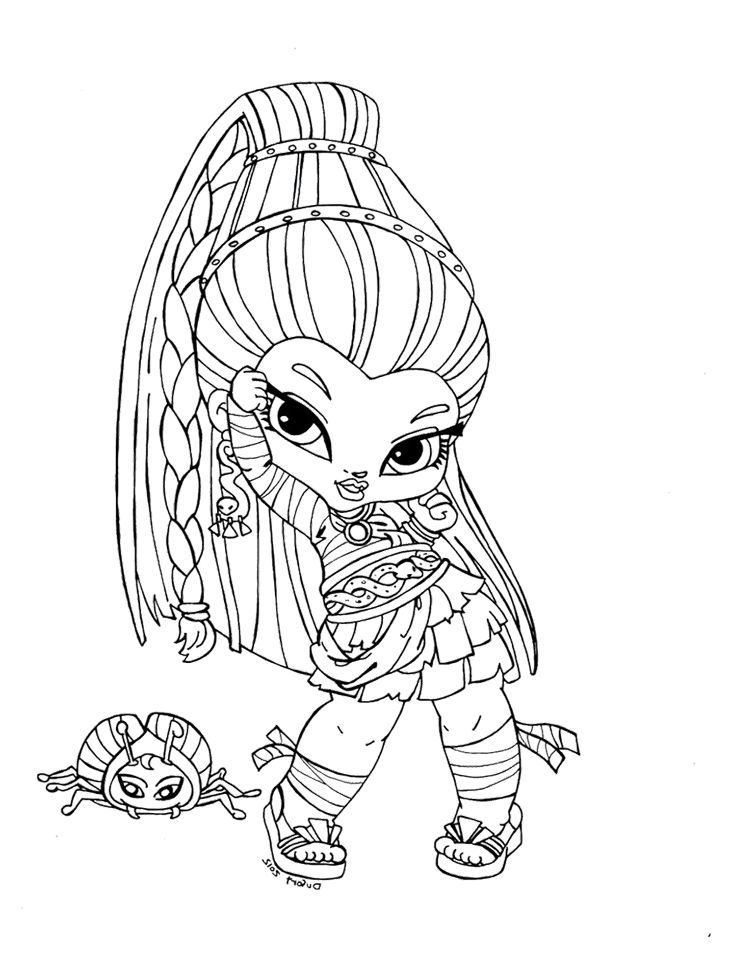 Monster High Baby Coloring Pages  Baby Nefera De Nile Coloring