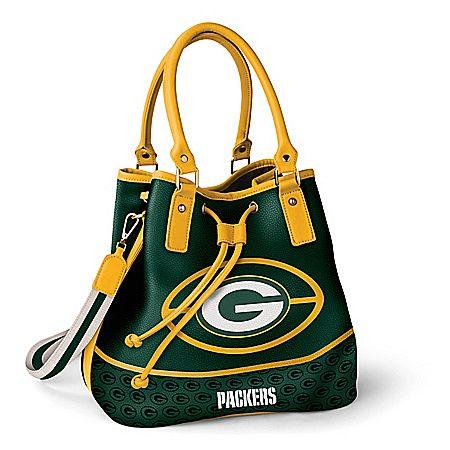 91cddaae Green Bay Packers Bucket Handbag With Team Logo | Products | Bucket ...