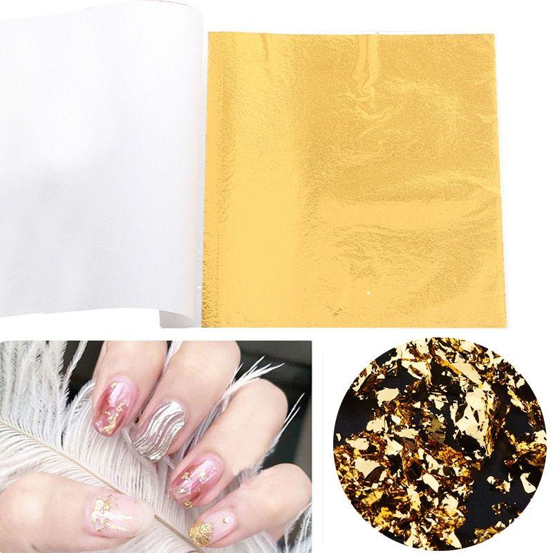 100pcs Gold Leaf Sheets Art Craft Foil Papers Leaf Leaves For Cake Decoration Diy Craft Gold Foil Gilding Decotative Pape In 2020 Craft Foil Foil Paper Arts And Crafts