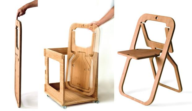 Flat pack folding chair
