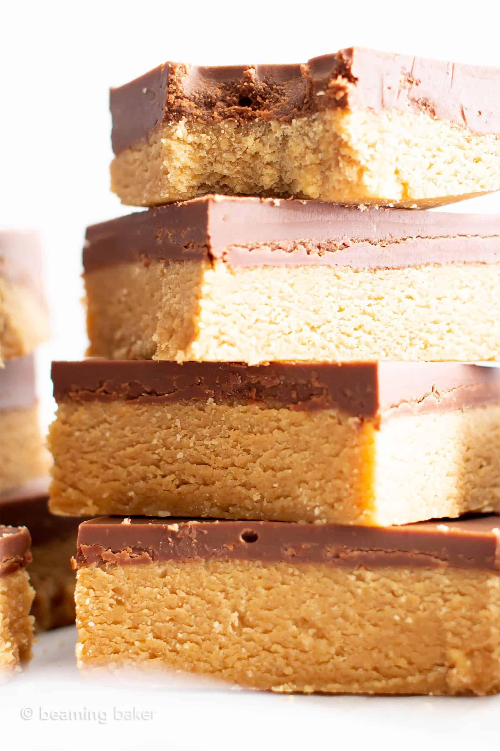 4 ingredient easy vegan chocolate peanut butter bars