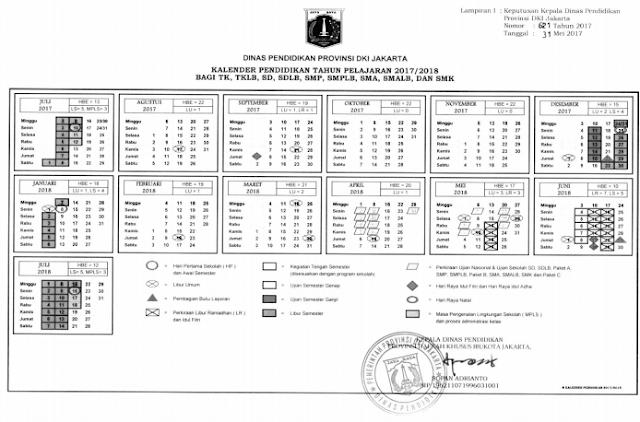 Kalender Pendidikan Provinsi Dki Jakarta Tahun Pelajaran 2017 2018 Pendidikan Kewarganegaraan Pendidikan Kalender Sekolah