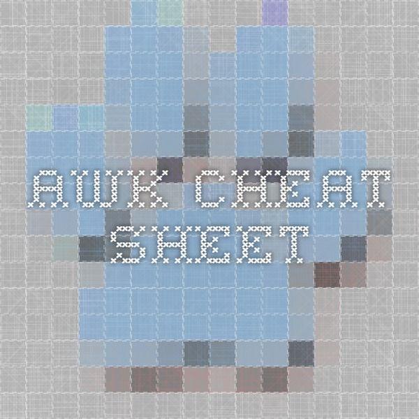 AWK - Cheat Sheet