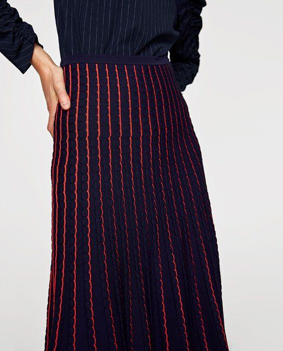 b4bdbce6d0 Billede 6 af MIDI NEDERDEL I STRIK fra Zara Skirts For Sale, Knit Skirt,