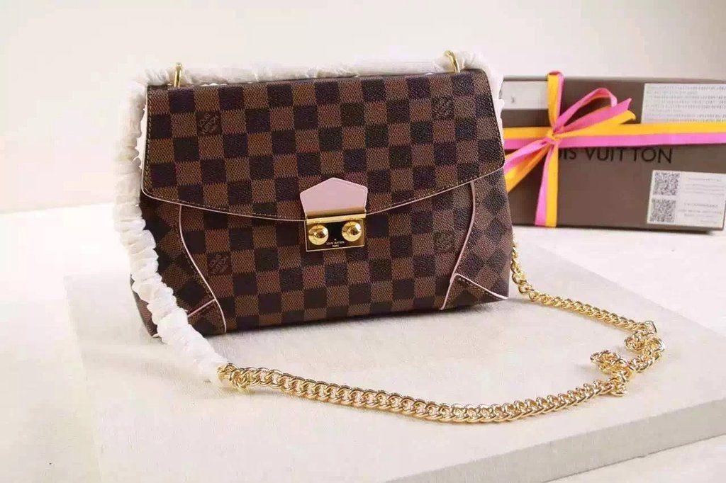 ca3965466e56 Louis Vuitton CAISSA CLUTCH N41597 Rose Ballerine for sale at https   www.