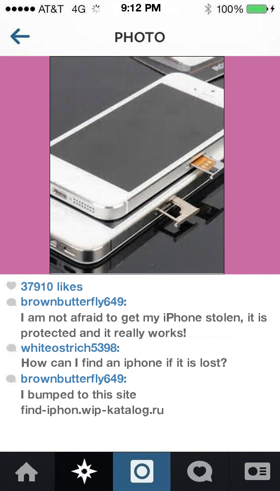 find my iphone using android