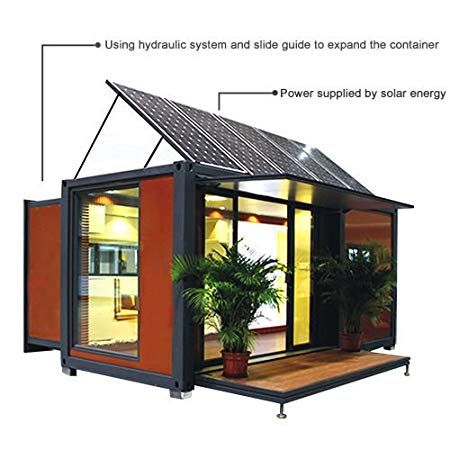 20ft/40ft expandable container house With Solar Energy Itty Bitty