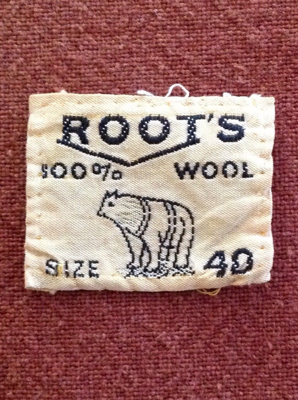 4ae62fb931 Details about Vintage Clothing Label Tag - Root s