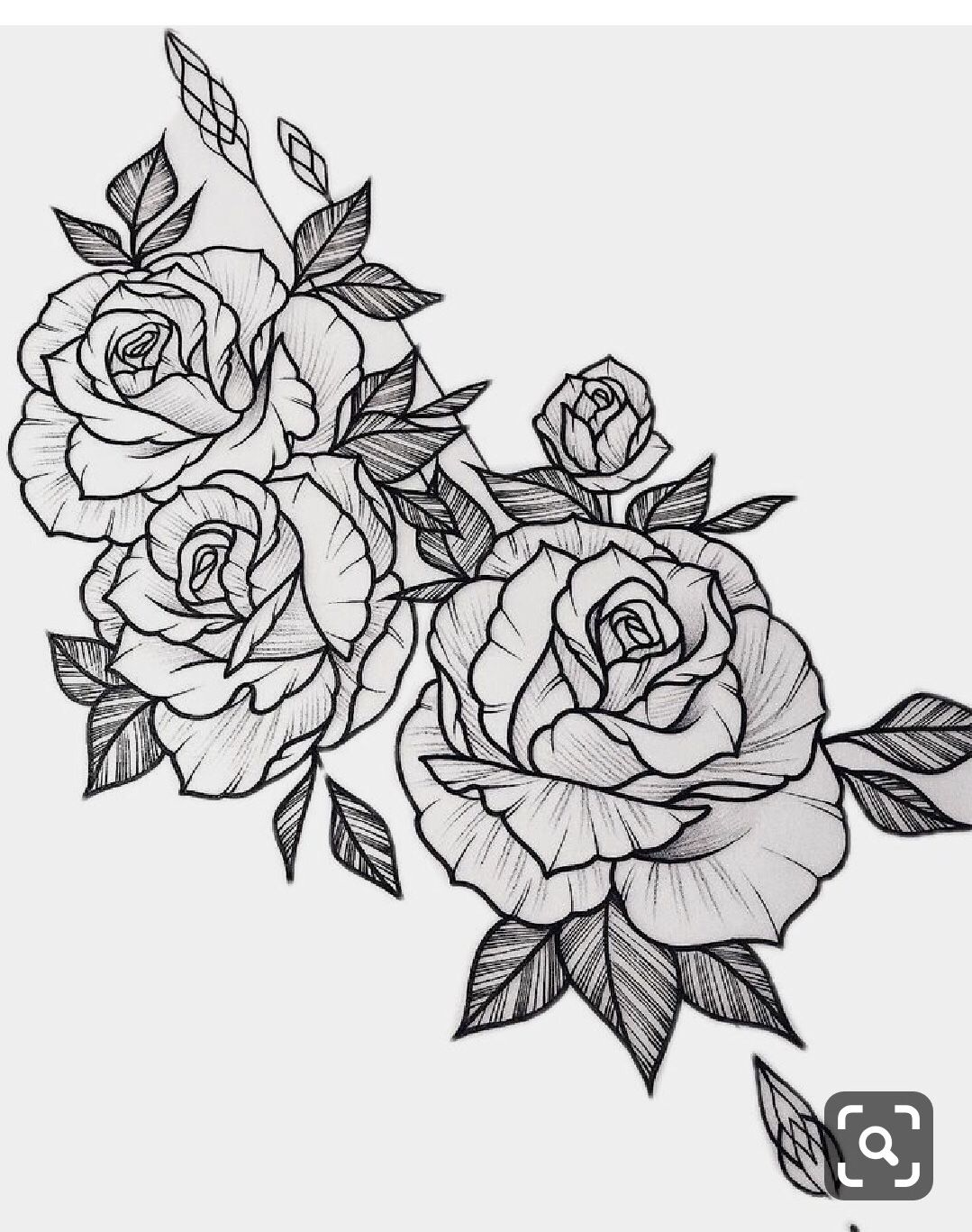 Pin By Mary Kinnard On Drawing Ideas Rose Tattoo Stencil Rose Outline Tattoo Flower Outline Tattoo
