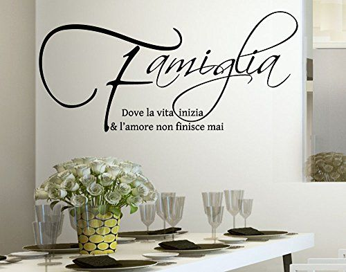 wall stickers adesivo murale frase citazione famiglia amore e vita adesivi murali decorazione interni frasi citazione