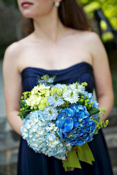 Pin On Navy Blue Dress Flower Options