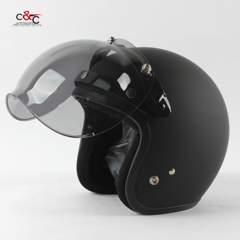 Free Shipping 3 Snap Open Face Helmet Visor Vintage Motorcycle Helmet Bubble Shield Visor Can Be Used Motorcycle Helmets Vintage Open Face Helmets Helmet Visor