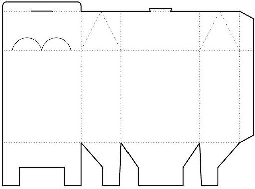 Gift box template no02 Papercraft Templates Pinterest Gift
