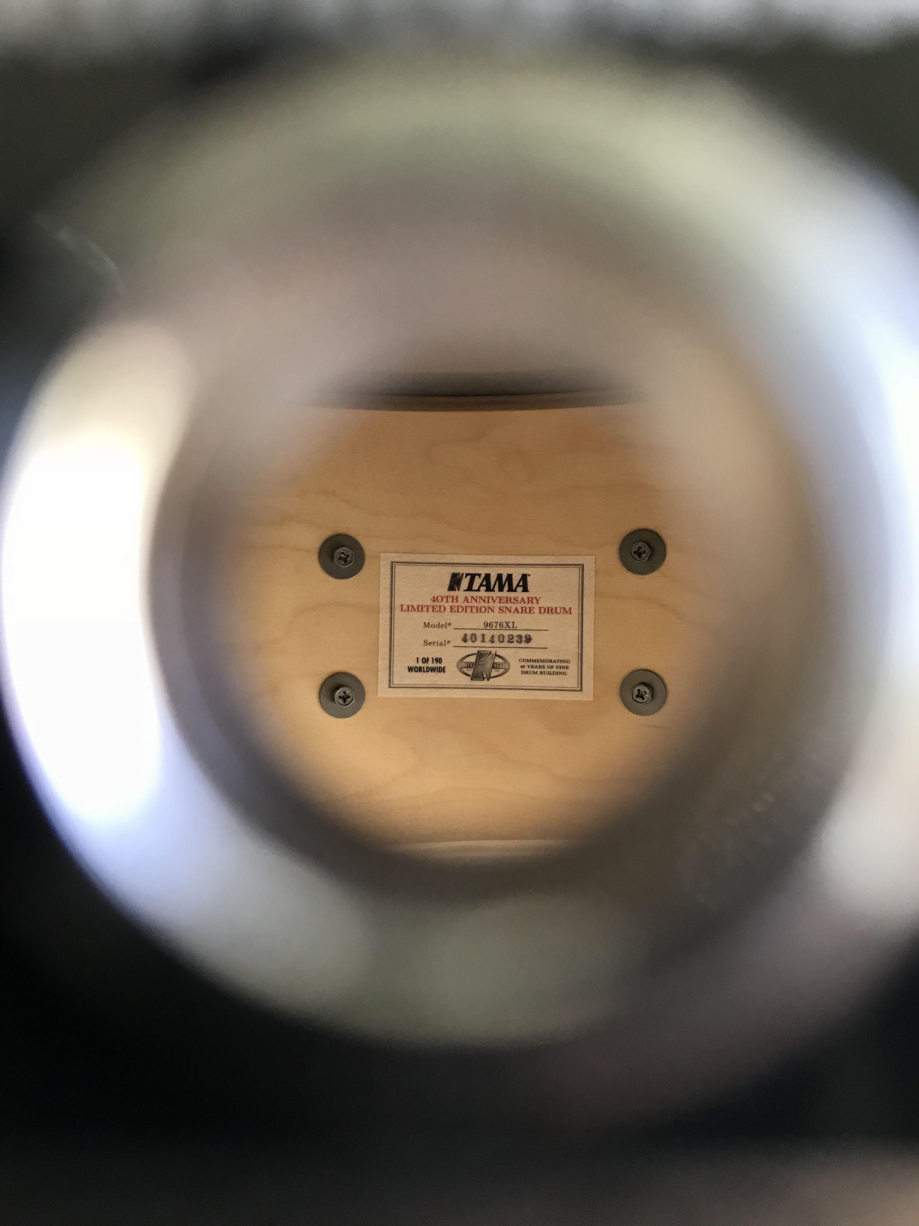 Tama 40th Anniversary Limited Edition Snare Drum  Birch Reissue