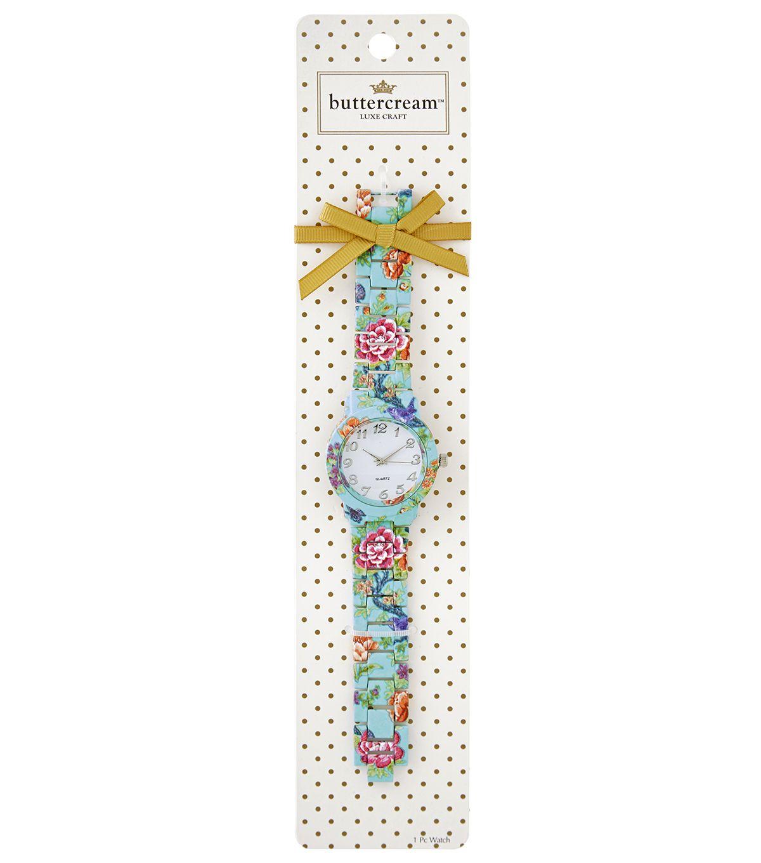d787eb1750b4 Buttercream™ Olivia Collection Multi Floral Link Watch   Buttercream ...