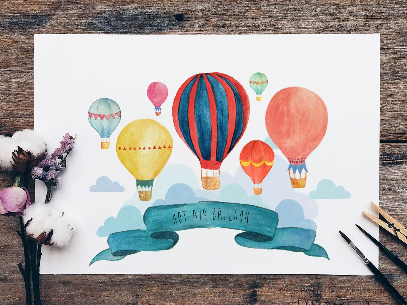 Hot Air Balloon Wall Art Sell My Art Balloon Wall Stationery Projects