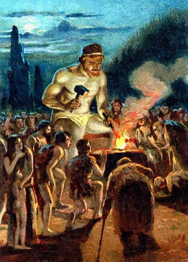 From A Liebig Trade Card Prometheus Having Stolen Fire