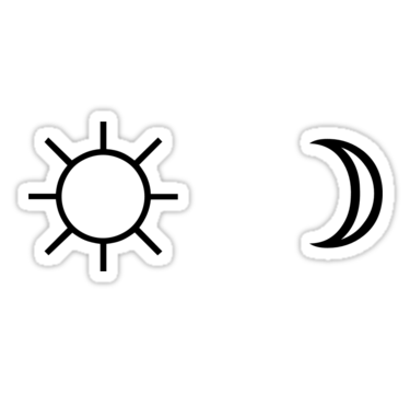 Sun And Moon Minimalist Aesthetic Black And White Tumblr Design Sticker By Cgnewman00 In 2020 Black And White Stickers Black Stickers Aesthetic Stickers