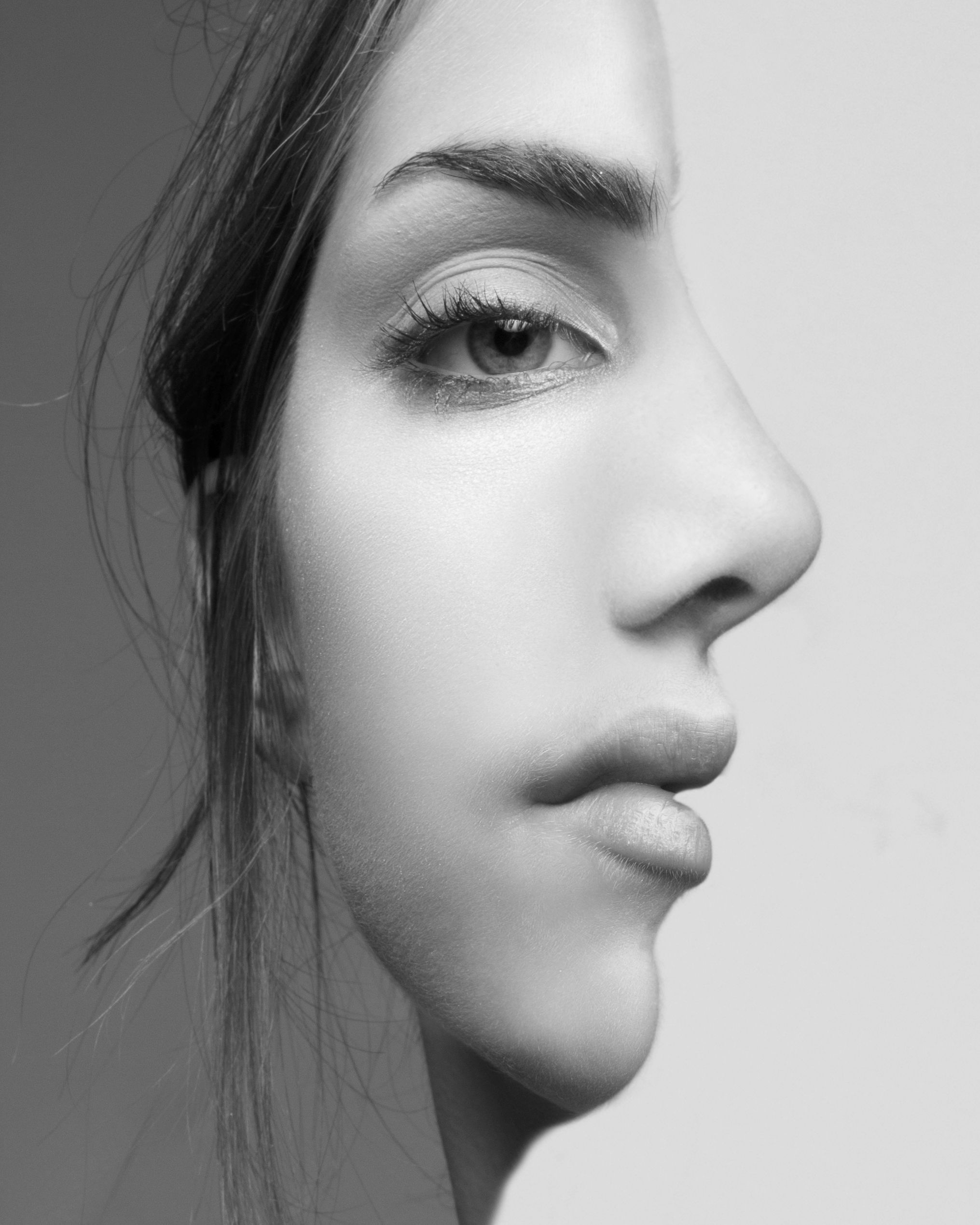 Image Result For Black And White Half Face Portrait Photography Ideas