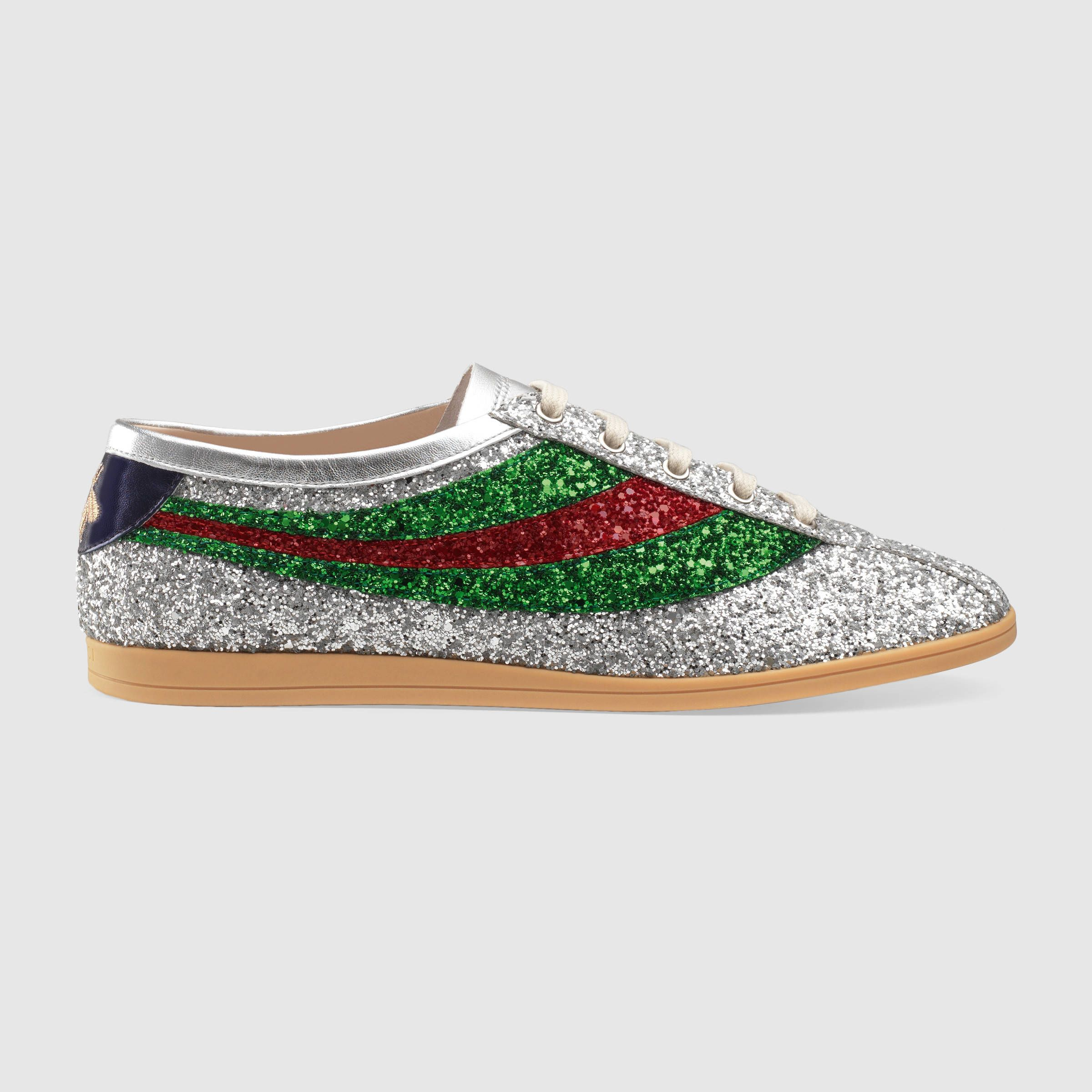 Gucci Bee Glitter Sneaker IvlTJSR7wM