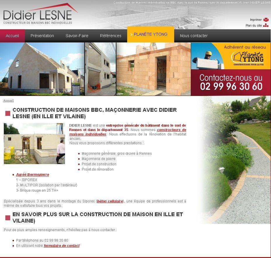 Constructeur De Maison Rennes didier lesne - maisons individuelles et maçon à rennes
