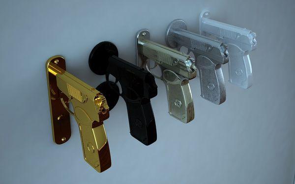 pistol doorknob - Google Search