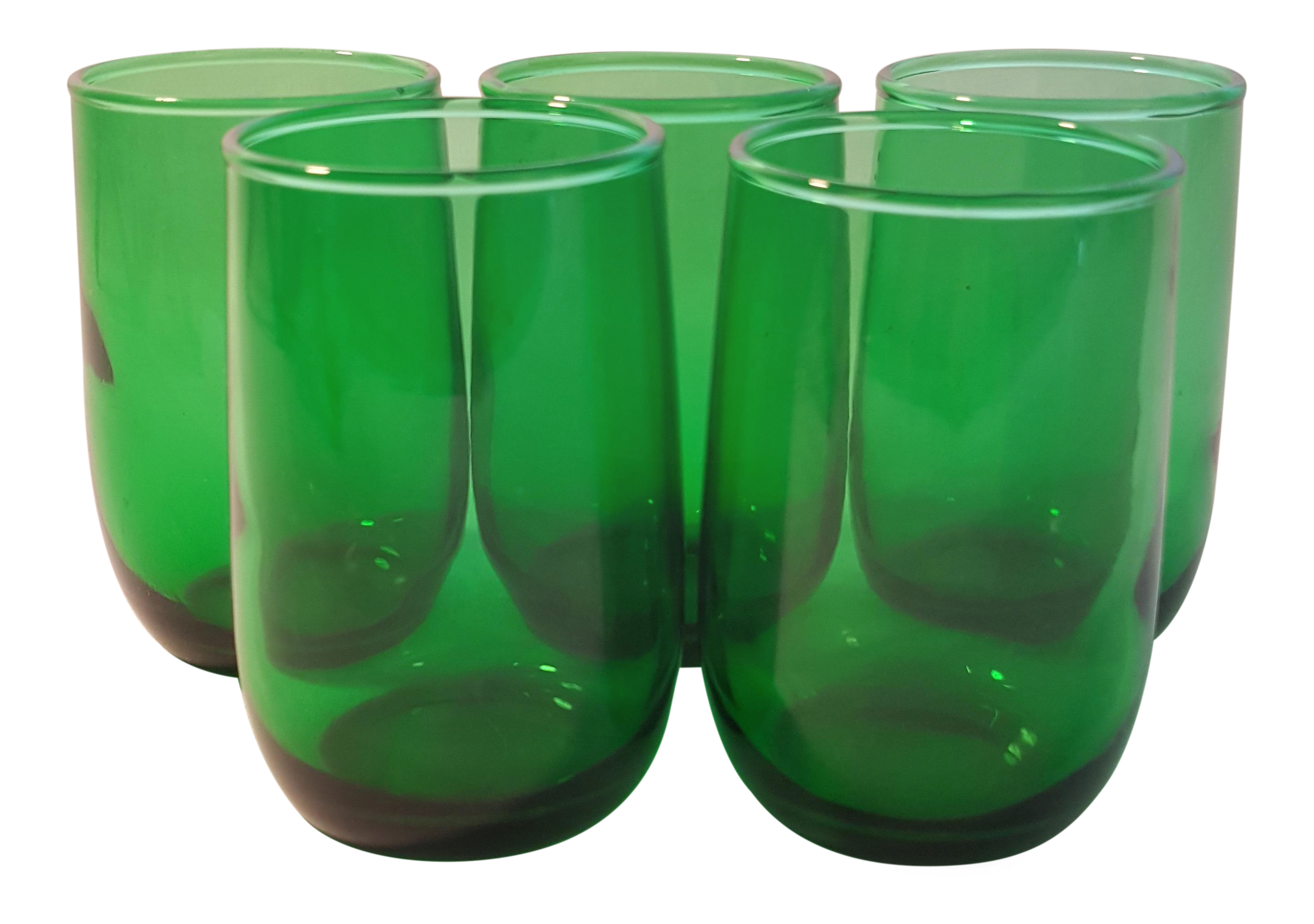 Anchor Hocking Roly Poly Forest Green 3 5oz Tumblers Set Of 5 In 2020 Green Glassware Anchor Hocking Green Drinking Glasses