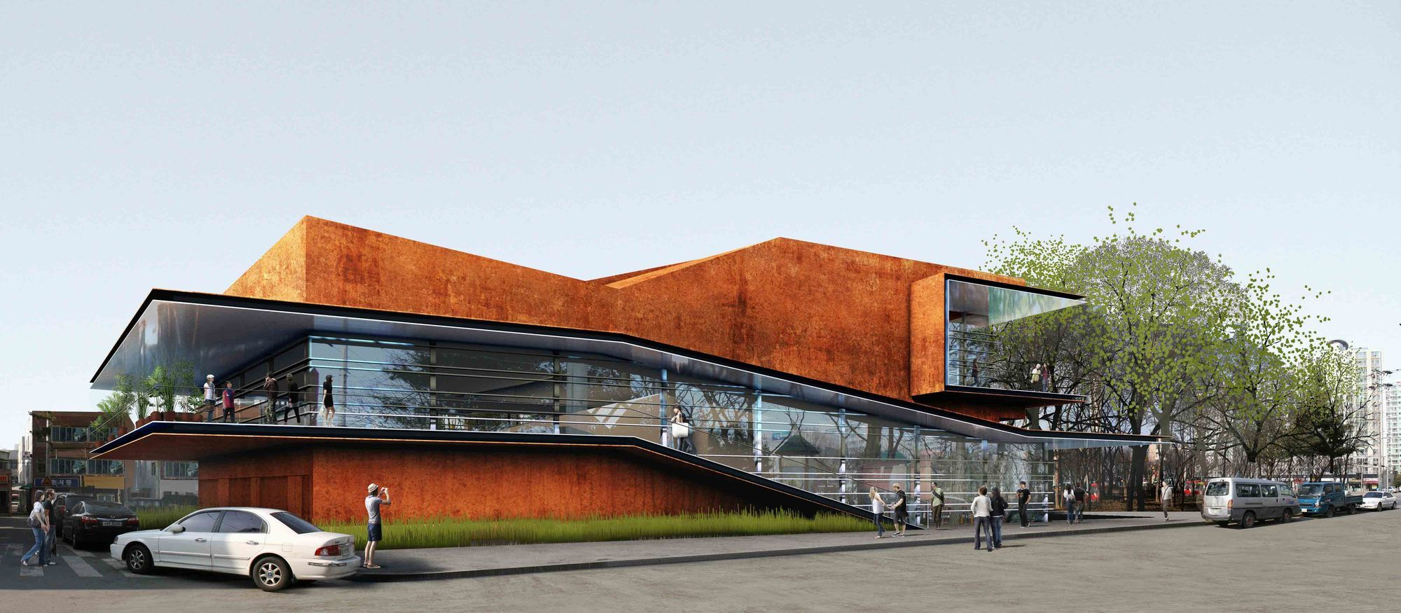 Gallery Of Daegu Gosan Public Library Competition Entry Martin