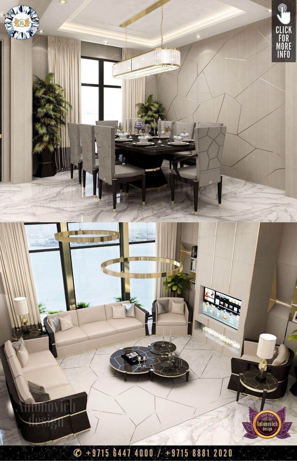 Dining Room And Living Room Best Interior Design Homes Dubai أفضل منازل التصميم الداخلي في دب In 2020 Dinning Room Design Dinning Room Decor Beautiful Living Rooms