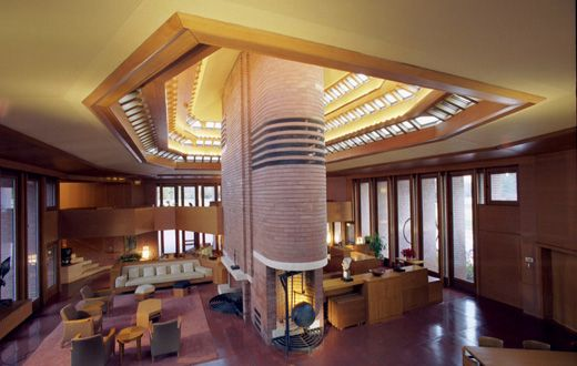 Wright in Racine: Wingspread, Racine, Wisconsin. Frank Lloyd Wright. 1939 Travel Wright