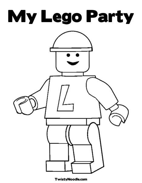 Thanks For Coming To My Party Coloring Page Twisty Noodle Lego