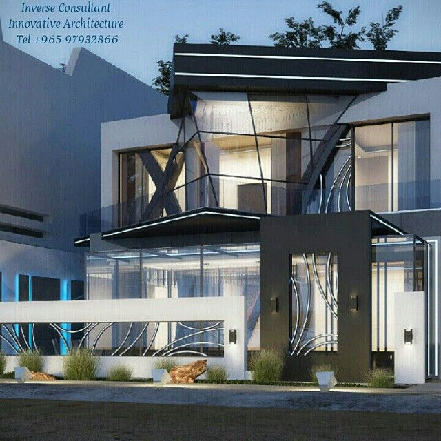 Design ingenuity by inverse architecture firm kuwait for Modern house uae