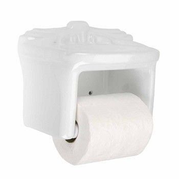 Toilet Tissue Paper Holder White Ceramic Porcelain 13500 Gt
