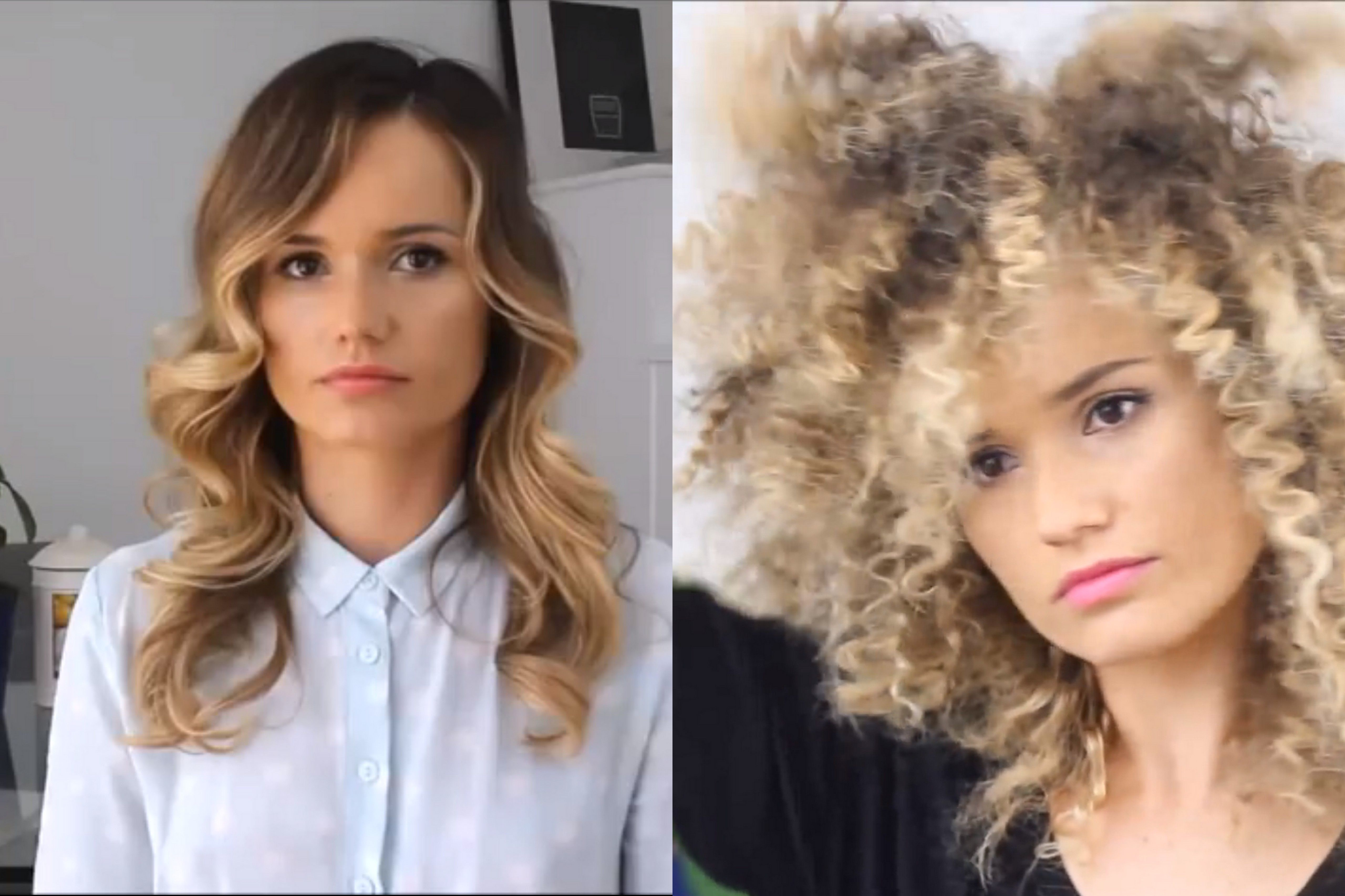 White Vlogger Eskimohair Posts Youtube Tutorial On How To Turn Straight Hair Into An Afro Texture Afro Hair Tutorial Afro Hair White Afro Hairstyles