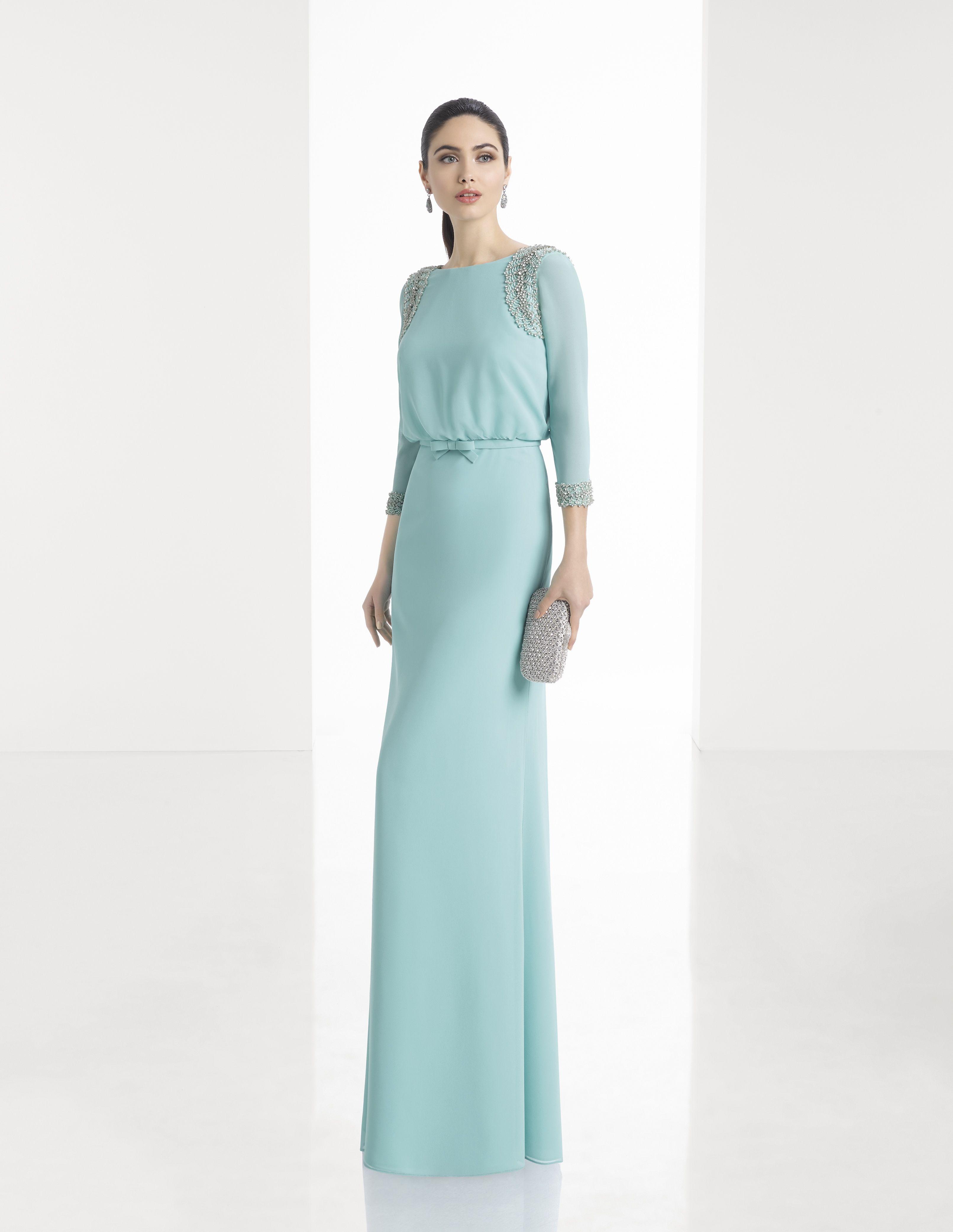 Vestido de Fiesta de Rosa Clará (1T160), colección elegance, largo ...