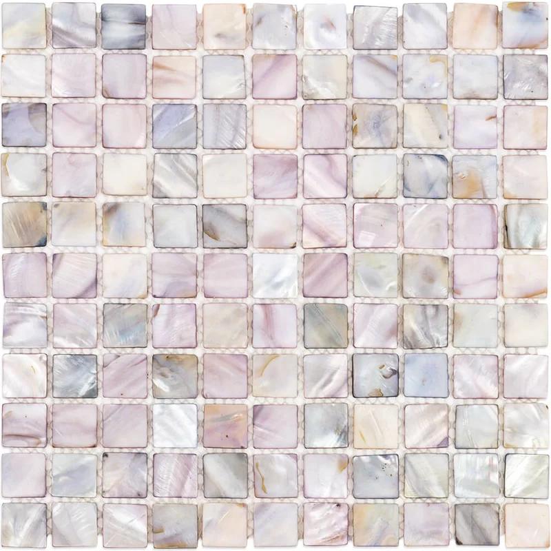 seashell grid mosaic tile